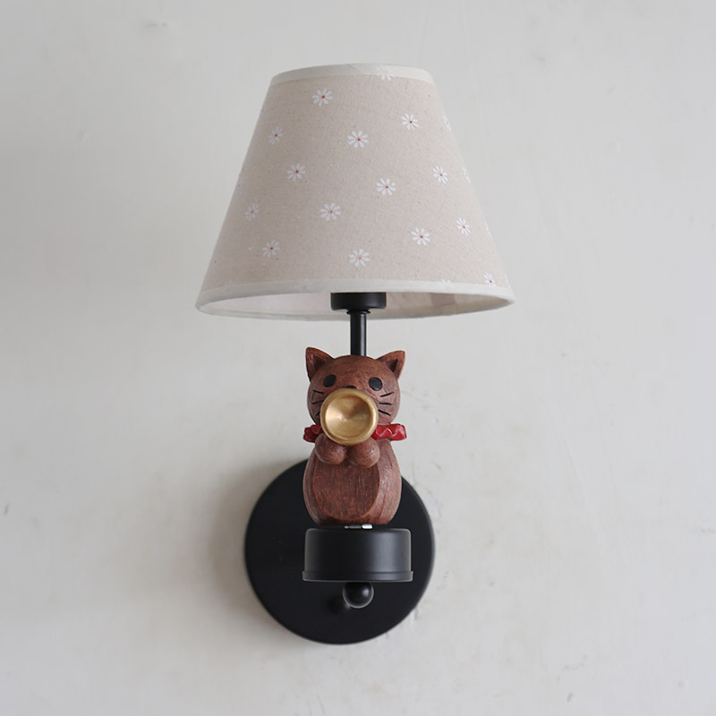 Nordic Children Bedroom Wall Lamps Led Cat Symphony Wall Lights Boy Girl Room Decoration Lamp Christmas Present Birthday Present - 6