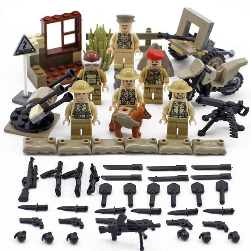 العسكرية Ww2 اللبنات الجيش البريطاني Imphal الدفاع الحرب جندي صغير أرقام متوافق Legoinglys سلاح البنادق ألعاب مكعبات