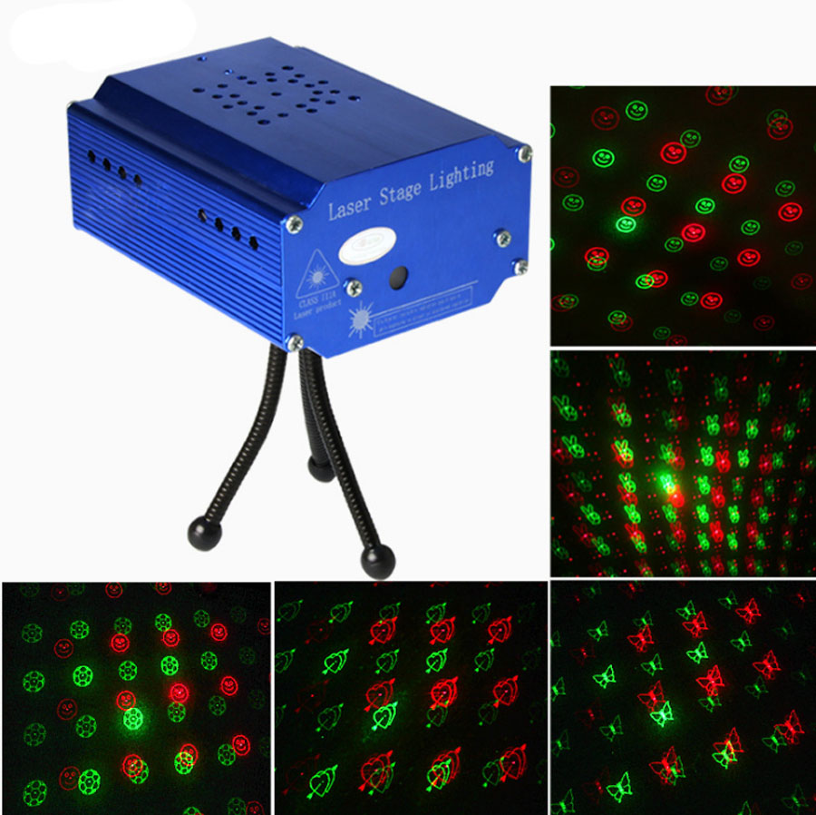 Led Stage Lights Portable Multi Led Projector DJ Disco Light Music Lights Xmas Party Wedding Club Show Laser Lighting Projector