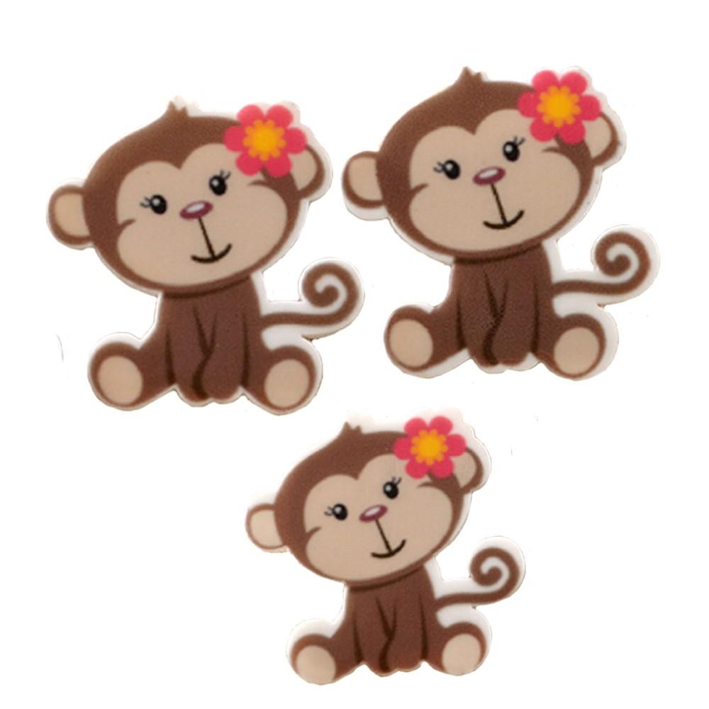 Baru 10 Pcs Nakal Monyet Kartun Planar Resin Kerajinan Diy Anak Anak