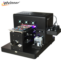 Jetvinner 2019 A4 size UV Printer LED with emboss effect UV Flatbed Printer for Phone Case, Leather, TPU, Metal, Wood, Acrylic