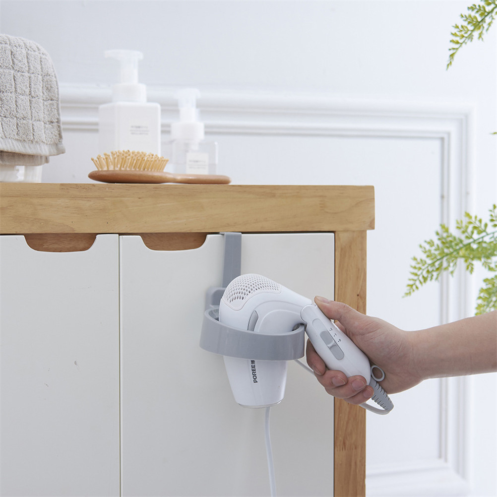Room Wall-mounted Removable Sucker Bathroom Shower Hairdryer Orgnizing Holder Hair Dryer Holder with Suction Stand Rack