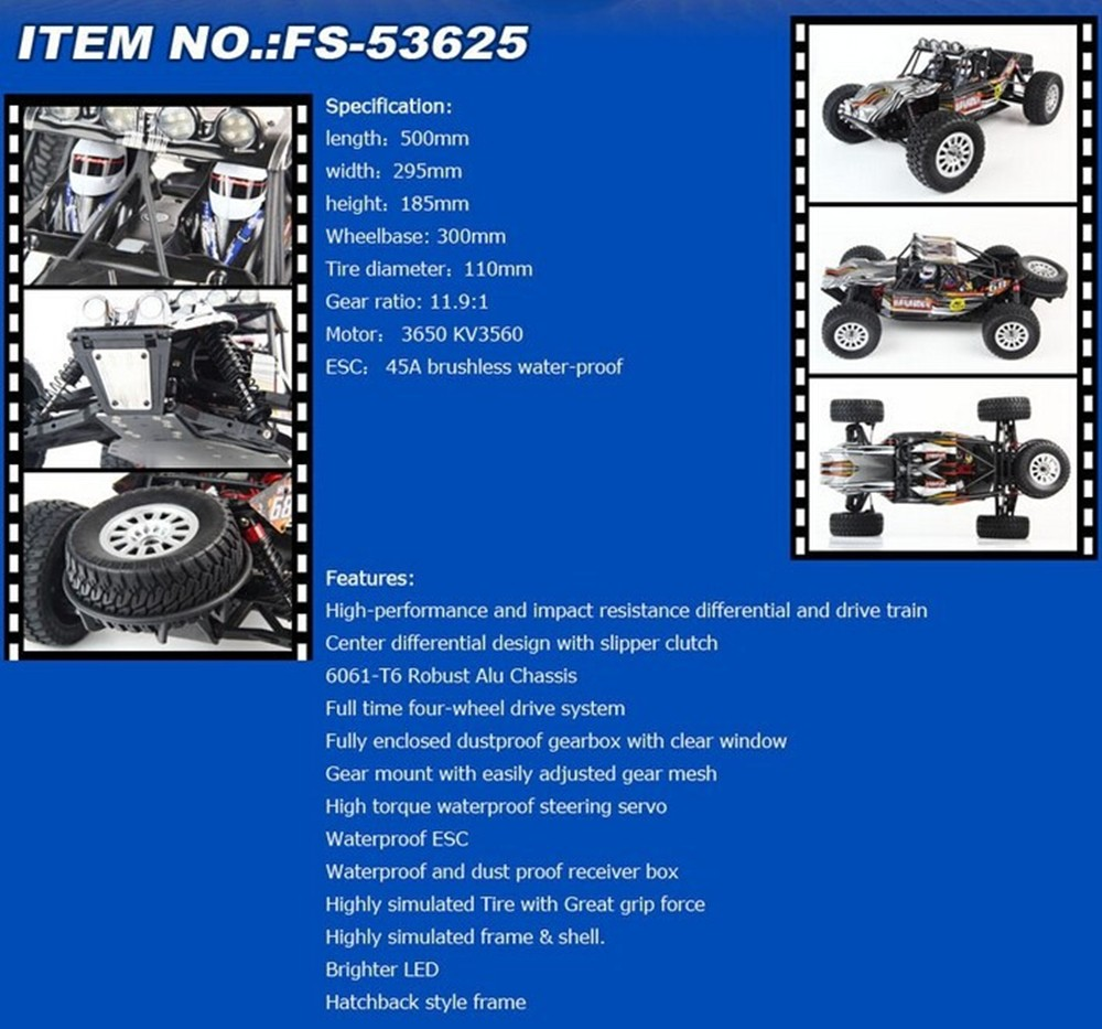 Fs Racing 53625 110 Scale Waterproof 4wd Off Road High Speed Additionally Traxxas Slash 4x4 Slipper Clutch On Parts Diagram Getsubject Aeproductgetsubject