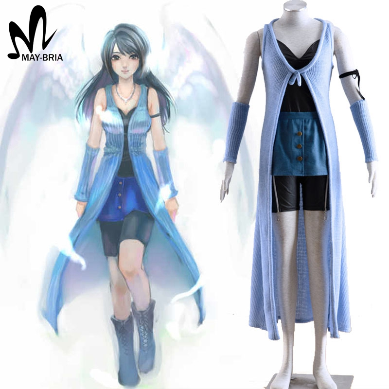 Final Fantasy XIII Riona adult costumes sweater coat dress Final Fantasy cosplay costume custom made