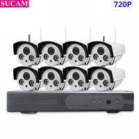 SUCAM Plug And Play 8CH 720P Wireless NVR Kit Outdoor IR Night Vision IP Wifi Camera