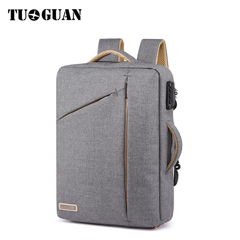 TUGUAN New Notebook Backpack for Men Anti-thief Design Travel Backpack Fit for 15.6 inch Laptop Bag Male Business Travel Bags