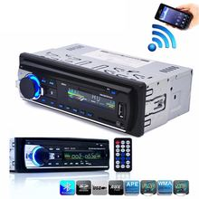 Bluetooth Stereo Audio In-Dash FM MP3 Radio Player with AUX-IN SD USB DC 12V MP3WMA Car Radio Player цена и фото