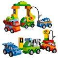 Большой Размер кирпича КИТАЙ бренд s668 Творческие Автомобили Строительные Блоки Классические Игрушки DIY Детские Игрушки, Совместимые с lego duplo 10552