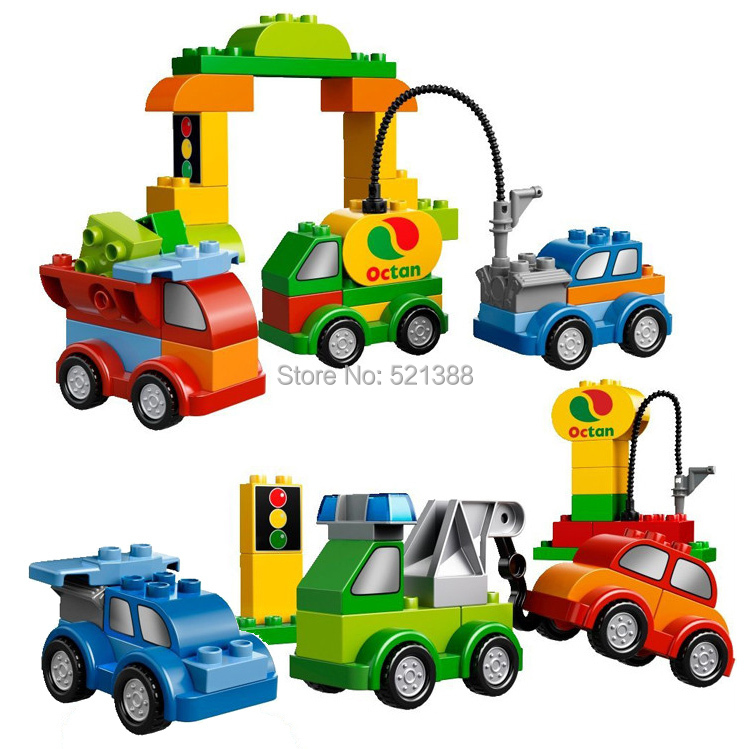 Large Size bricks CHINA brand s668 Creative Cars Building Blocks Classic Toys DIY Baby Toy Compatible