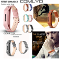 Comlyo para fitbit flex 2 smart watch band pulsera de la correa Cuero de lujo de la Correa de Muñeca Para Fitbit Flex 2 Correa de Reemplazo regalo