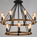 North Country Pendant Lights Loft Industrial Rope Pendant Lamps Restaurant Lamps Retro Vintage Edison Lighting 6/8/14 Arms