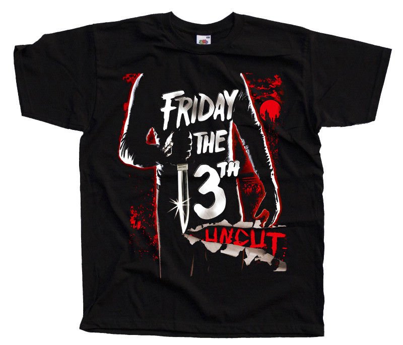 Friday The 13Th V1 Movie Poster T Shirts Black Graphite All Sizes S 4Xl