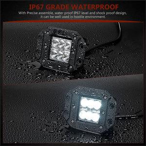 Image 4 - Barre lumineuse de travail, projecteur, pour voiture hors route, ATV UTV Kamaz UAZ 4x4, éclairage antibrouillard pour voiture, 18W LED de phare de voiture