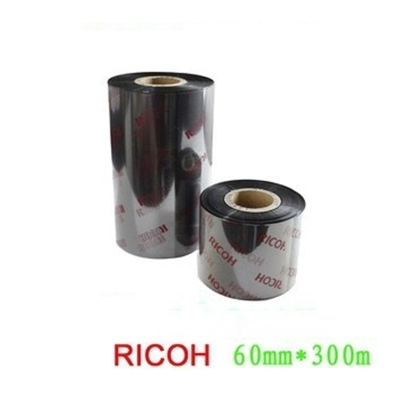 Ricoh resin black ribbon 60mm*300M thermal label transfer ribbon suit for printing silver PET label scratch resistance label m осветляющий кондиционер для блондинок 300 мл