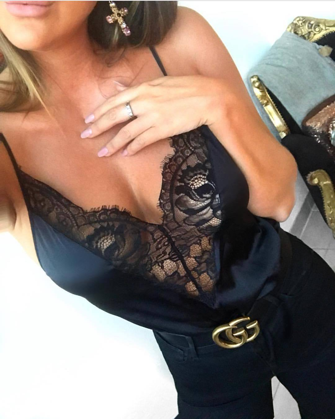 95fe2ca6527f HIRIGIN Newest Hot Women Sexy Spaghetti Strap Lace Stain Vest Tops Tanks  Camisole Underwear New-in Camisoles   Tanks from Underwear   Sleepwears on  ...