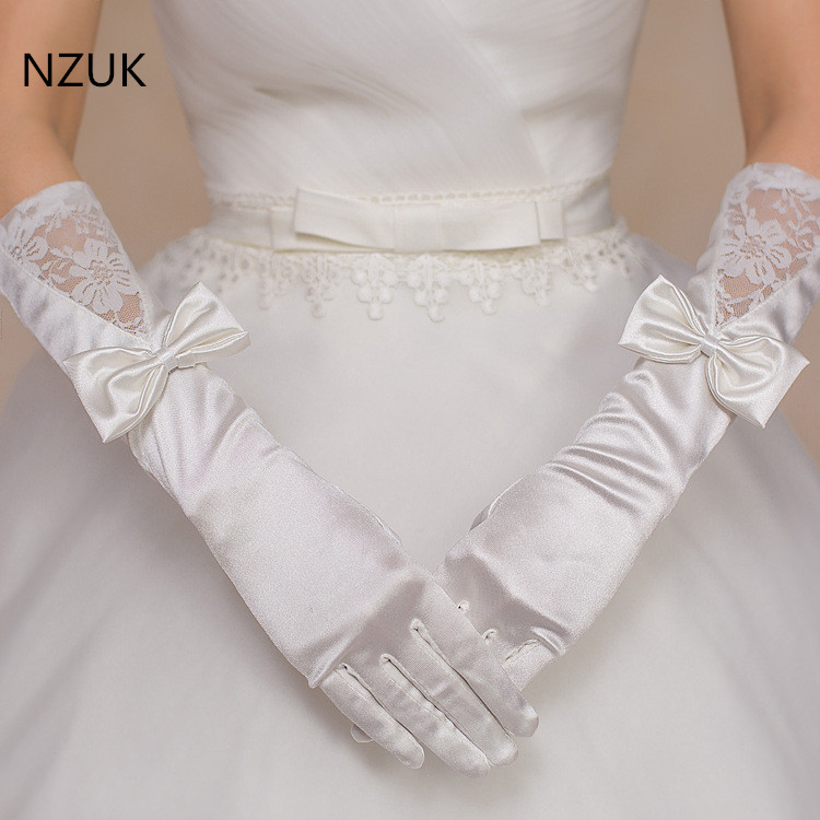 Satin Long Length Wedding Bridal Gloves Wedding Accessories Gloves For Cosplay Party Prom