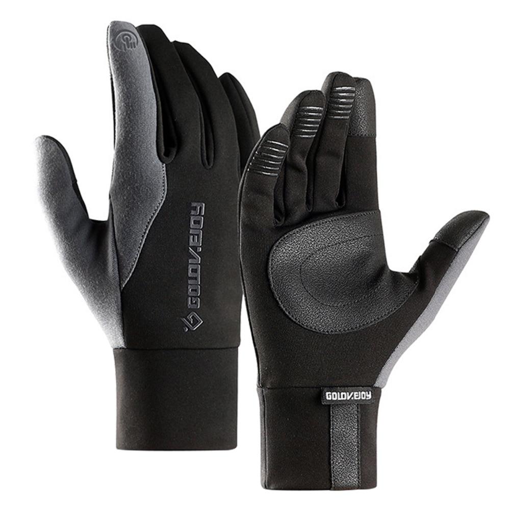Зимние уличные спортивные перчатки сенсорный экран все относится к водонепроницаемым и ветронепроницаемым теплым ездовым и бархатным лыж...