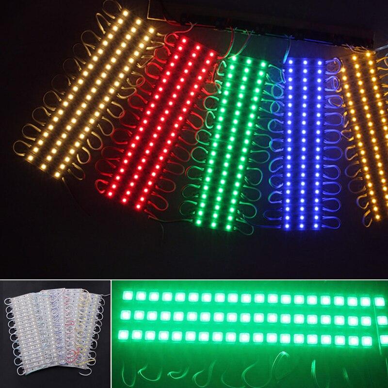 20 шт. 3LED 5050 SMD модуль свет лампы Газа DC 12 В подписывает украшения Водонепроницаемый Новый ...