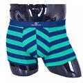 Новое поступление! 2015 полосатый дизайн боксер шорты, Удобные и дышащий белье трусы мужские шорты размер L-XXXL 32