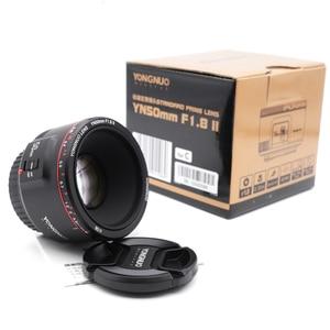 Image 3 - الأصلي YN50mm F1.8 II فتحة كبيرة عدسات تركيز السيارات YONGNUO لكانون بوكيه تأثير كاميرا عدسات لكاميرات كانون EOS 70D 5D2 5D3 DSLR