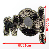 Vintage Sequin Applique Word NO Embroidered Patch LETTER Applique Fabric Clothes Applique Decoration Sequined Patch
