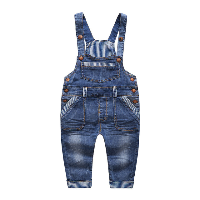 03ae7910c Boys Girl Bib Jeans Child Jumpsuit Jean Overalls Cute Letter Denim ...