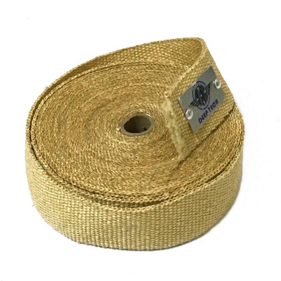 10m x 2 Beige Exhaust Muffler Pipe Header Heat Resistant Exhaust Wrap With Vermiculite Coating 10 Pcs Cable Ties