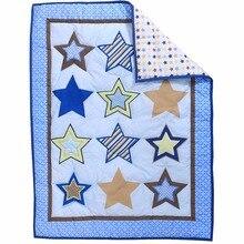 Стеганое одеяло с вышивкой, животным растительным принтом, детское маленькое одеяло для детского сада, для мальчиков и девочек, мягкие украшения, принадлежности для постельного белья, аксессуары