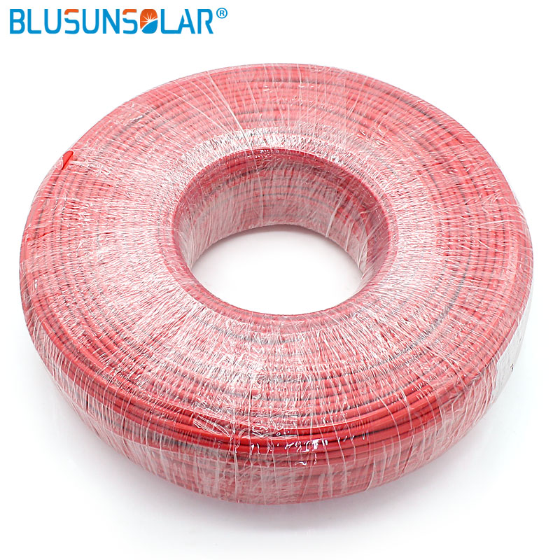 100 Meters Roll 328FT 2 5mm 20 Photovltaic Cable TUV cable for PV Panels Connection PV