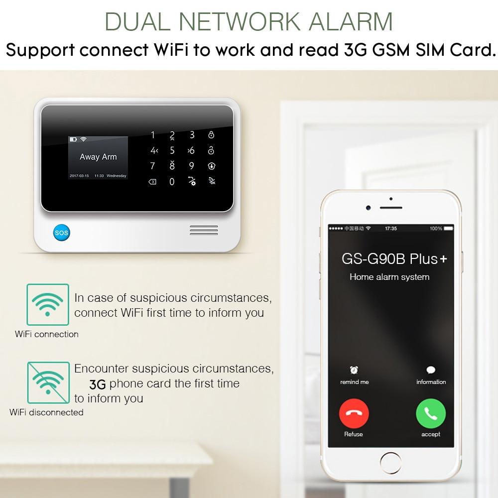 Image 2 - Towode 무선 홈 보안 WIFI GSM 3G GPRS APP 원격 제어 경보 시스템 패널 EN RU FR ES SE NL TRkit diykit kitskit gsm -