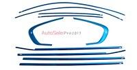 Нержавеющаясталь хромированной нержавеющей подоконник планки без Центральная колонна 10 шт для BMW X6 E71 2009 2010 2011 2012 2013 2014
