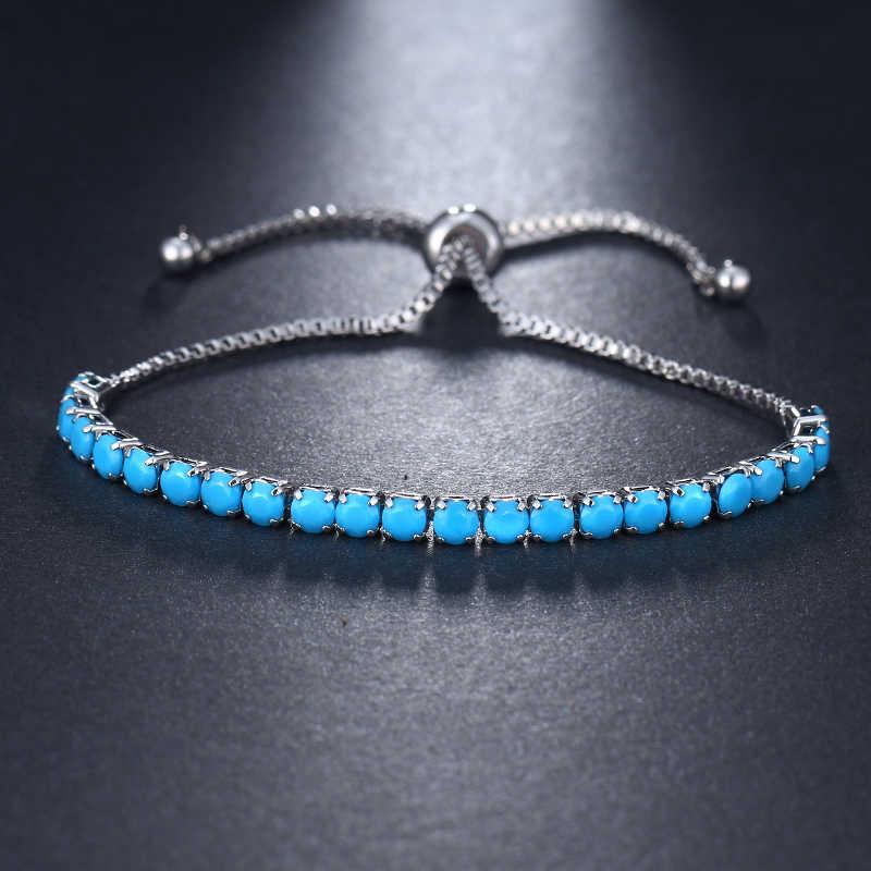 EMMAYA אופנה חדש Cz קריסטל חרוזים צמיד צבעים זירקון מתכוונן צמידי עבור בנות זול תכשיטים
