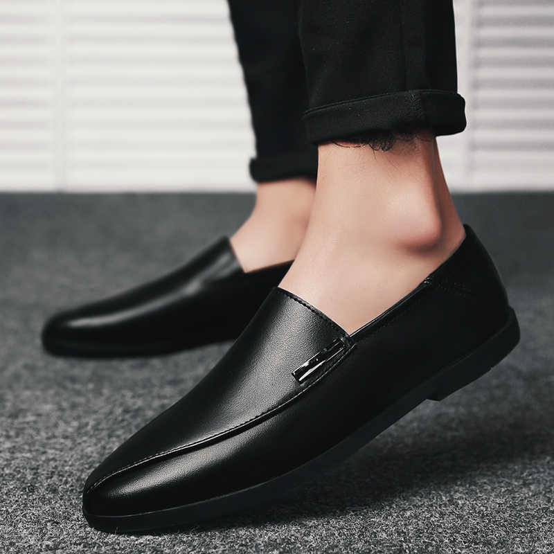 675698172cf 2018 shoes men slip on casual men loafers outdoor mens moccasins shoes  genuine leather handmade high