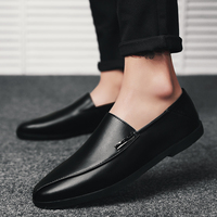 2018 shoes men slip on casual men loafers outdoor mens moccasins shoes genuine leather handmade high quality men's flats shoes 3