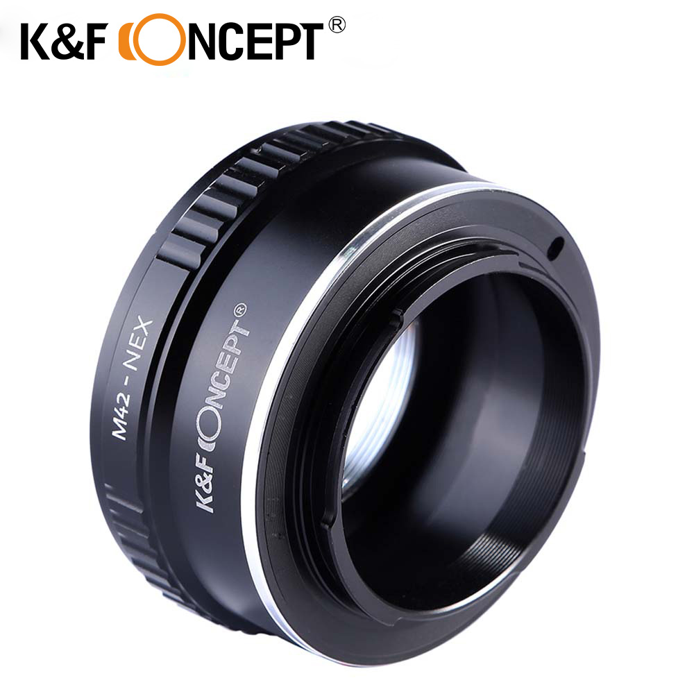 K&F CONCEPT Camera Adapter Ring M42-NEX Lens Adapter Ring for Sony NEX E-mount NEX NEX3 NEX5n NEX5t A7 A6000 Camera Body