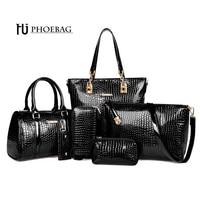 Fashion Crocodile Handbag PU Leather Bag Women Handbags Crossbody Bag Handbag Messenger Bag Rse Wallet 6