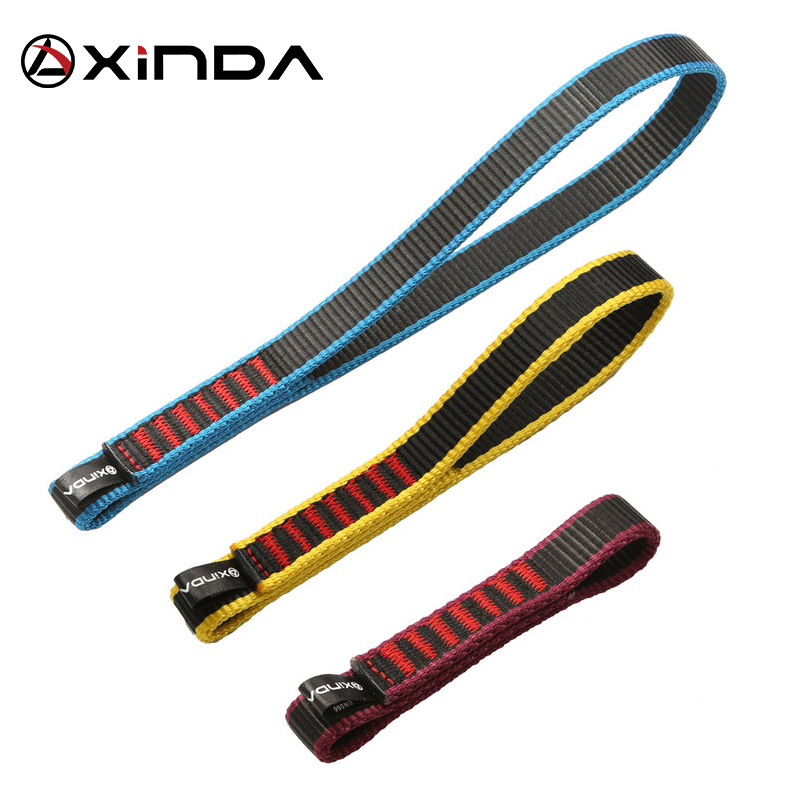 Xinda Outdoor Rock Climbing Belt Support Protective Sling High Strength Wearable Polyester Belts Moutaineering Equipment Kits
