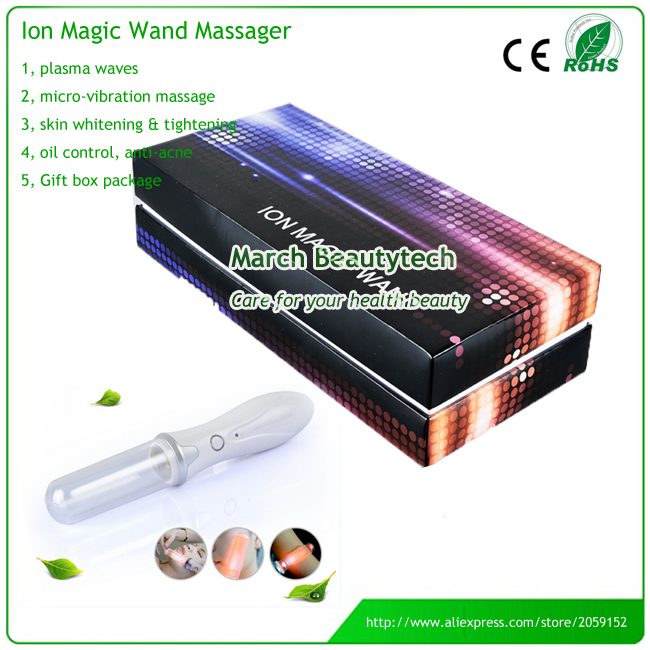 Personal Beauty Care Ion Magic Stick Skin Relieve Pain Skin Firming Galvanic Wave Light Ion Magic Wand Massager Rechargeable [tool] 2017 exo member lu han personal resume medal who stick our official with surrounding light stick 0305