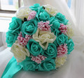 Старинные свадебные букеты высокое качество ручной цветок роза искусственная рука невесты цветок атласа рамос novia в наличии