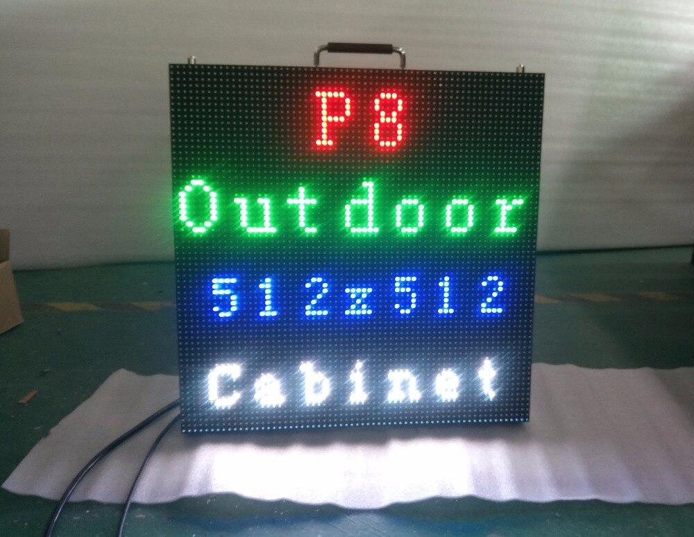 SRY супер тонкий 512 мм x 512 мм светодиодный <font><b>P8</b></font> открытый smd 3535 водонепроницаемый алюминиевого литья под давлением светодиодный экран