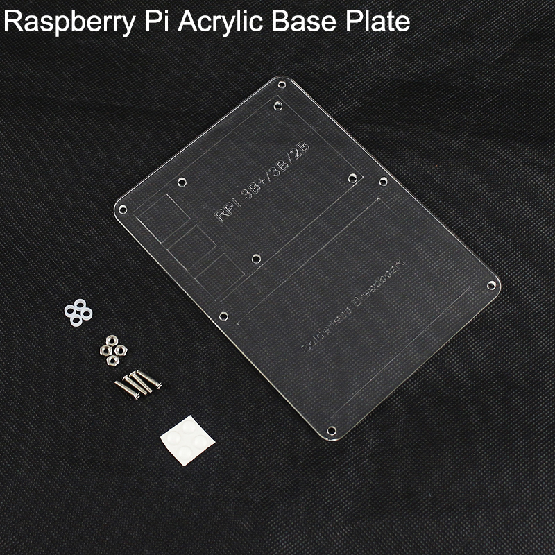 Raspberry Pi Acrylic Mounting Plate Made For 400 Tie Point Breadboard  Board And Raspberry Pi 4B/3B+/3B