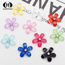 5 pcs Cartoon Crystal Flower General Purpose Mobile Phone Back Shell Sticker DIY Accessories Decoration