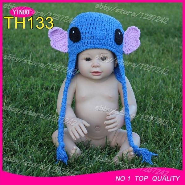 c5f29e57888 Australia hot sale Lilo   Stitch baby crochet hat   baby crochet photography    crochet goat hats   crochet animal hat wholesale
