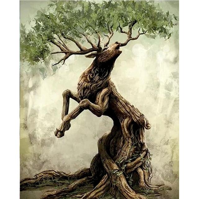 Abstract Deer Tree