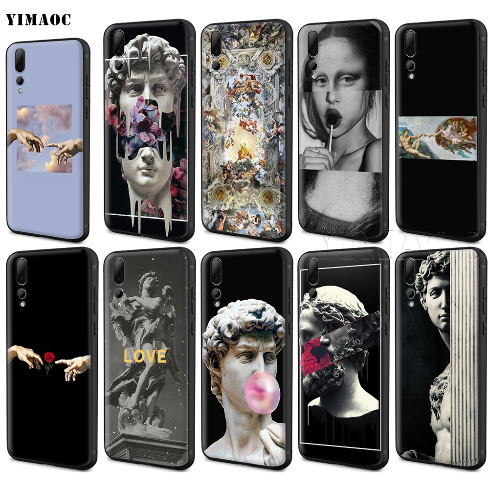 YIMAOC Michelangelo Art Statue Aesthetic Silicone Case for <font><b>Huawei</b></font> Mate 10 P8 P9 P10 P20 Lite Pro P <font><b>Y7</b></font> Y9 Smart Mini 2017 <font><b>2018</b></font> image