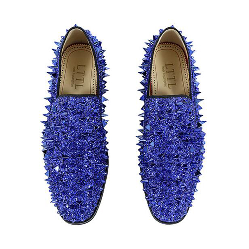 Silver Glitter Slip On Shoes
