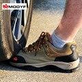 Freeshipping los hombres calientes del invierno de trabajo puntera de acero zapatos de seguridad simple resistencia al deslizamiento botas de senderismo al aire libre calzado a prueba de pinchazos