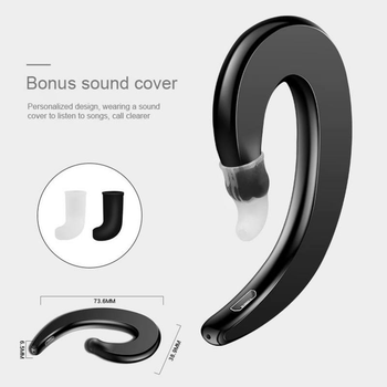 Bone Conduction Earphones Wireless Headphones Bluetooth Handsfree Earphone with Mic Earbuds Sports Headset for Xiaomi for IPhone