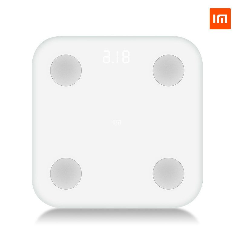 D'origine xiaomi de Graisse Corporelle échelle intelligente Ultra Mince Simple Apparence IMC BMR Viscérale Graisse Test Soutien IOS8.0 Android4.4 Bluetooth4 dans Salle de bains Échelles de Maison & Jardin