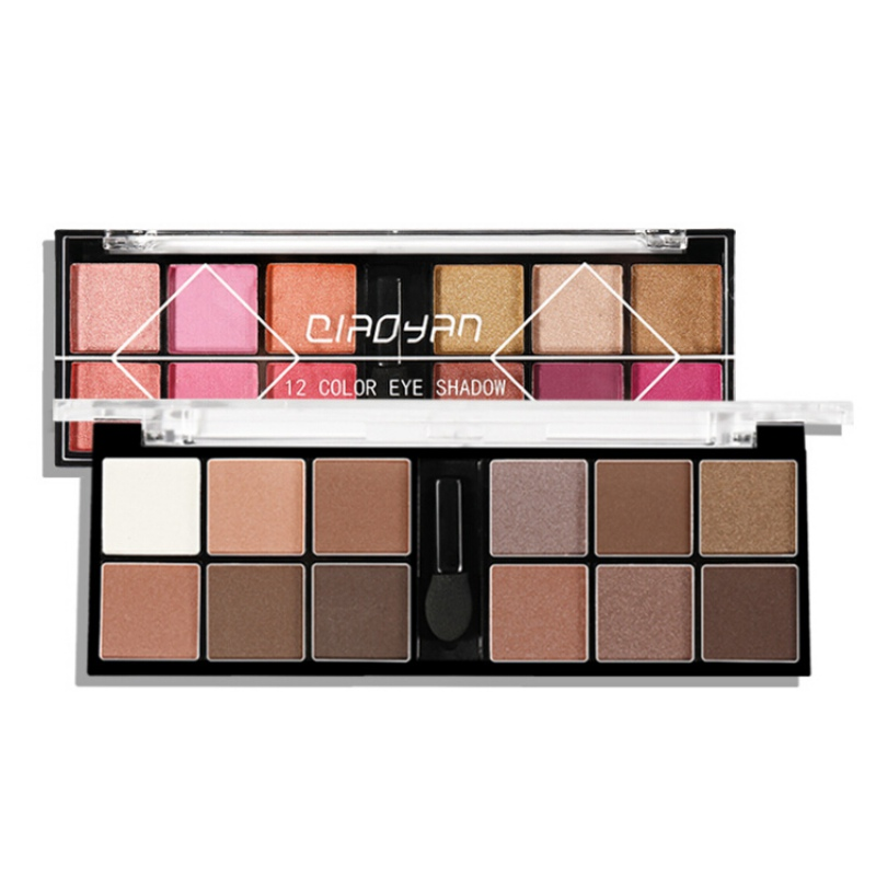 New Brand Makeup Palette 12 Color Nude Matte Eyeshadow Shimmer Diamond Glitter Eye Shadow